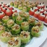 Cucumber Nests & Watermelon & Feta Nests